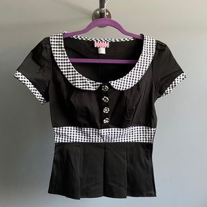 Black and White Pinup Blouse